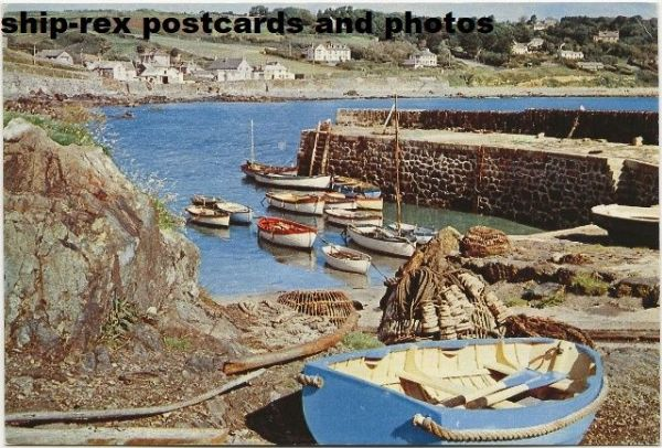 Coverack (Cornwall) harbour, postcard (a)